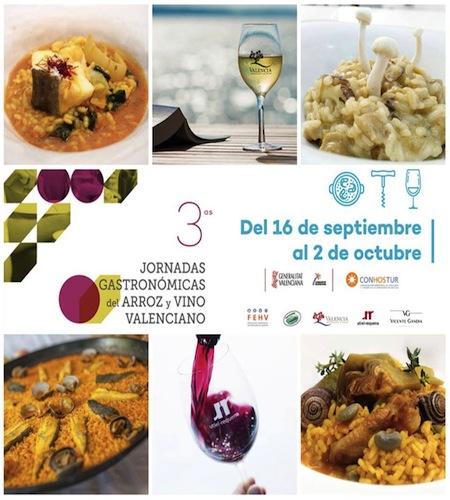 arroz y vino valenciano